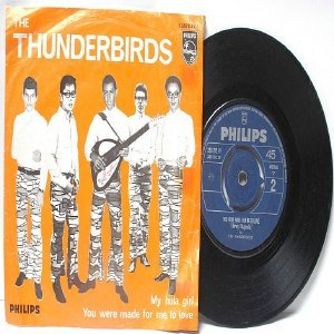 """Asian 60s Band THE THUNDERBIRDS Phillips INTERNATIONAL 7"""" 45 RPM PS"""
