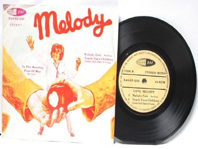 """BEE GEEES Melody Fair CSNY  Malaysia ASIA 7"""" 45 RPM PS EP"""