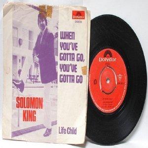 "OLOMON KING  Life Chile INTERNATIONAL Polydor  7"" 45 RPM PS"