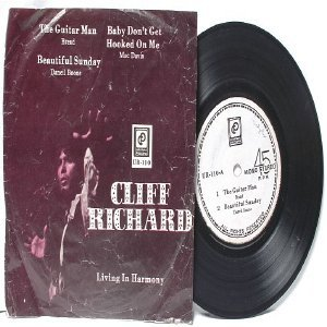 """CLIFF RICHARD vs BREAD Malaysia   ASIA 7"""" 45 RPM PS EP"""