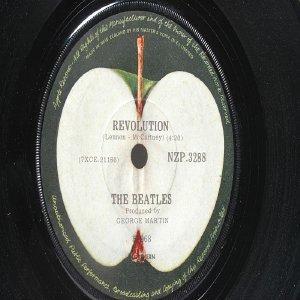 """BEATLES Revolution  JOHN LENNON New Zealand HMV  7"""" 45 RPM"""