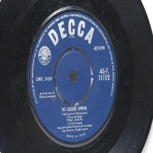 "TSAI CHIN Ding Dong Song  DECCA 7"" 45 RPM"