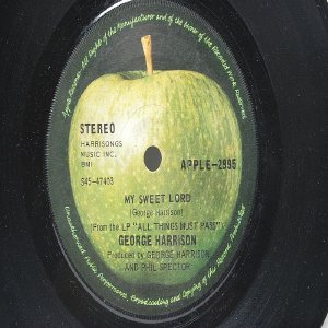 "BEATLES GEORGE HARRISON My Sweet Lord APPLE International  7"" 45 RPM"