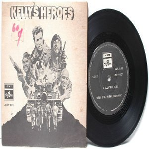"KELLY'S HEROES Clint Eastwood MALAYSIA  7"" 45 RPM PS EP 1970"