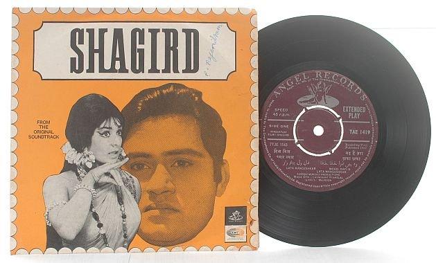 """BOLLYWOOD Shagird EMI IndiaMOHD RAFI 7"""" 45 RPM 1967"""