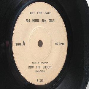 "MADONNA Into the Groove TINA TURNER Mad Max MALAYSIA Jukebox Promo 7 "" 45 RPM"