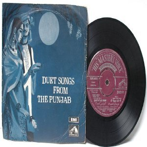 """BOLLYWOOD INDIAN  Duet Songs From the Punjab EMI 7"""" 45 RPM EP"""