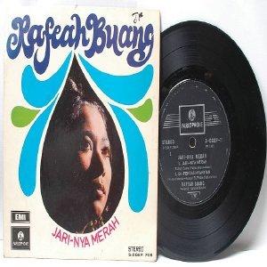 """Malay 60s Pop RAFEAH BUANG Jari-Nya Merah ASIAN DIVA  7"""" PS EP"""