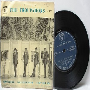 "THE TROUPADORS Conversation LIFE International  ASIA 7"" 45 RPM PS EP"