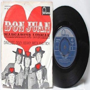 "DAVE DEE, DOZY, BEAKY , MITCH AND TICH Don Juan INTERNATIONAL Fontana  7"" 45 RPM PS EP"