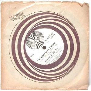 """BLACK SABBATH Tomorrow's Dream VERTIGO INTERNATIONAL  7"""" 45 RPM 1972"""