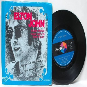 "ELTON JOHN Your Song MCA INTERNATIONAL Asia  7"" 45 RPM PS"