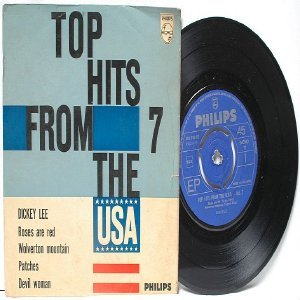"TOP HITS USA #7 Dickey Lee PHILLIPS International 7"" 45 RPM PS EP"