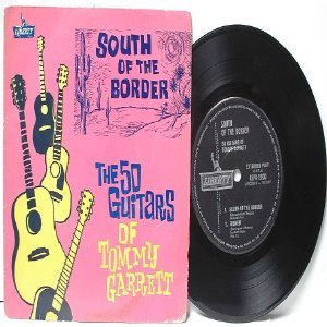 "TOMMY GARRETT South Of Border INDIA Australia OZ  7"" 45 RPM PS EP"