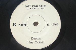 """Rare THE CORRS Dreams MALAYSIA Jukebox Promo WHITE LABEL 7 """" 45 RPM"""