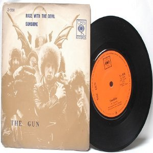 "THE GUN Race with the Devil MALAYSIA International CBS  7"" 45 RPM PS"