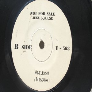"Super Rare NIRVANA Aneurysm  MALAYSIA Jukebox Promo WHITE LABEL 7 "" 45 RPM"