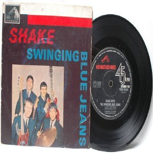 "THE SWINGING BLUE JEANS Australia AUSSIE Oz HMV  7"" 45 RPM PS EP"