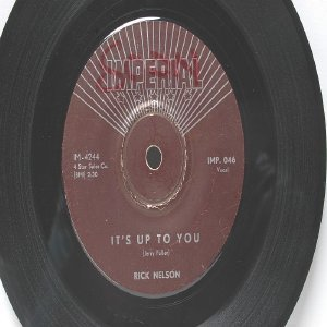 """RICK NELSON I Need You IMPERIAL International  ASIA 7"""" 45 RPM"""