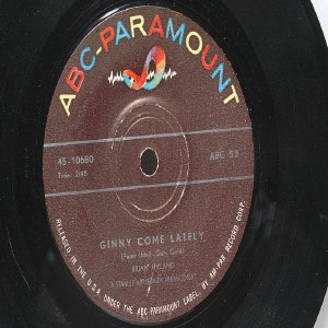 "BRIAN HYLAND Ginny Come Lately ABC International  7"" 45 RPM"