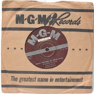 """CONNIE FRANCIS Baby's First Christmas INTERNATIONAL MGM Brown Label 7"""" 45 RPM"""
