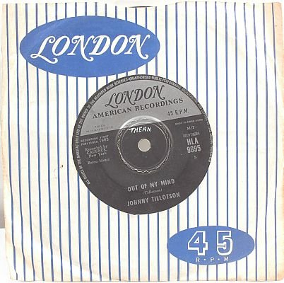"JOHNNY TILLOTSON Judy Judy 1963 HONG KONG 7"" 45 Rpm"