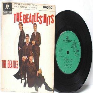 "BEATLES Hits PARLOPHONE GREEN LABEL Singapore MONO    7"" 45 RPM  PS EP"