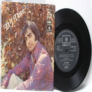 """Malay 70s Pop D.J. DAVE 4-TRACK 33 RPM 7"""" PS EP"""