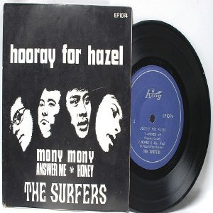 """THE SURFERS Hooray For Hazel  ASIAn 60s BAND  7"""" 45 RPM PS EP"""