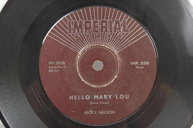 "RICKY NELSON Hello Mary Lou ASIA 7"" IMPERIAL 45 Rpm"