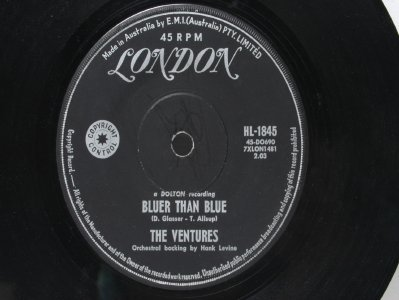 "THE VENTURES Silver City AUSTRALIA Aussie 7"" 45 RPM"