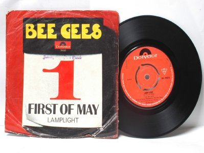 """BEE GEES First Of May INTERNATIONAL Polydor 7"""" 45 RPM PS"""