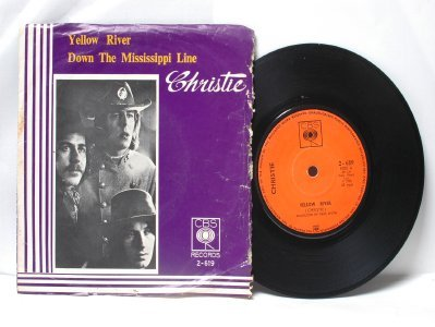 """CHRISTIE Yellow River  MALAYSIA  ASIA 7"""" 45 RPM PS EP"""
