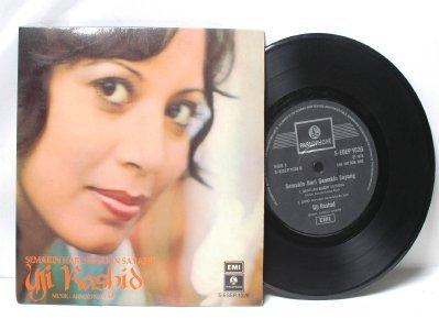 """Malay 60s Pop UJI RASHID Ahmad Nawab ASIAN DIVA  7"""" PS EP"""