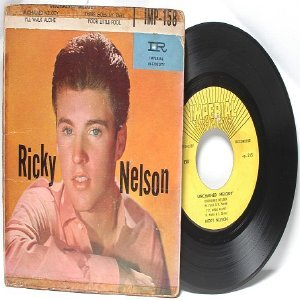 """RICK NELSON Unchained Melody  IMPERIAL 7"""" 45 RPM  IMP-158"""