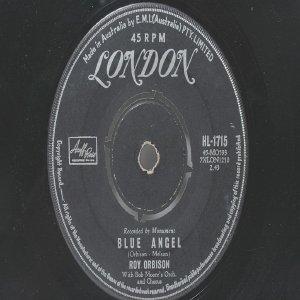 """ROY ORBISON Blue Angel LONDON Australia AUSSIE Oz 7"""""""