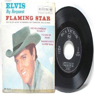 "ELVIS PRESLEY Flaming Star ITALIAN  Italy RCA VICTOR 7"" PS EP"