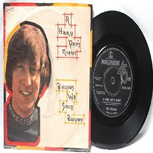 "BEATLES A Hard day's Night PARLOPHONE  India  7"" DIY Cover  1964"