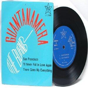 """60s ASIAN BAND The Burns GUANTANAMERA  7"""" PS EP"""