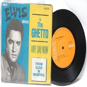 """ELVIS PRESLEY In The Ghetto SINGAPORE Asia 7"""" PS"""