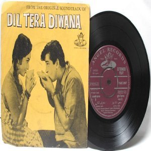 "BOLLYWOOD INDIAN  Dil Tera Diwana SHANKAR JAIKISHAN Mohd. Rafi"" 45 RPM EMI Angel EP 1963"