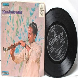 "BOLLYWOOD INDIAN  Kanhaiyalal SHEHNAI Film Tunes 7"" 45 RPM EMI Angel EP 1974"