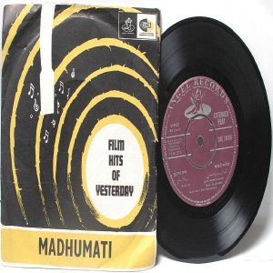 "BOLLYWOOD INDIAN  Madhumati LATA MANGESHKAR Manna Dey 7"" 45 RPM EMI Angel EP"