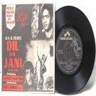 "BOLLYWOOD PUNJABI INDIAN  Dil Ja Jani A.R. BUTT-M.AFTAB  7"" 45 RPM  HMV EP"