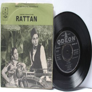 "BOLLYWOOD INDIAN  Rattan NAUSHAD Zohra Of Ambala 7"" 45 RPM EMI odeon EP 1972"