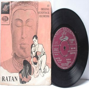"BOLLYWOOD INDIAN  Ratan NAUSHAD Zohra Of Ambala 7"" 45 RPM Angel EP  1967"
