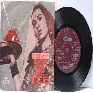 "BOLLYWOOD INDIAN  Son Of India NAUSHAD Lata Mangeshkar "" 45 RPM EMI Angel EP 1962"