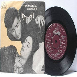 "BOLLYWOOD INDIAN  Boy Friend SHANKAR JAIKISHAN Mohd. Rafi 7"" 45 RPM Angel EP"