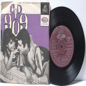 "BOLLYWOOD INDIAN C.I.D. 909  O.P. NAYYAR Asha Bhosle7"" 45 RPM EMI Angel  EP 1967"