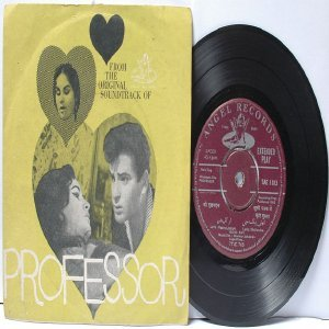 "BOLLYWOOD INDIAN Professor MOHD. RAFI  Lata Mangeshkar 7"" 45 RPM EMI Angel EP 1962"